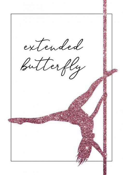 Plakat z napisem - Extended butterfly