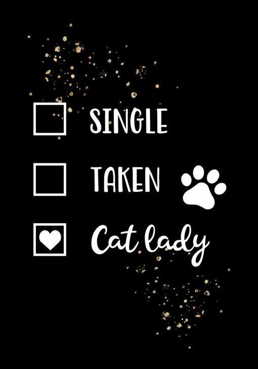 Plakat z napisem - Cat lady