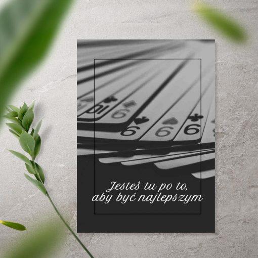 Plakat z typografią - Jesteś tu po to aby być najlepszym