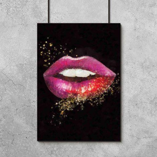 Plakat z ustami