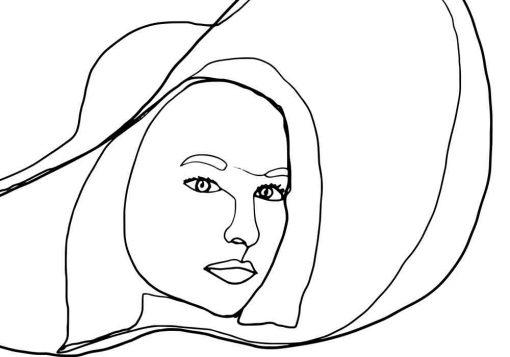 Plakat z kobietą w kapeluszu