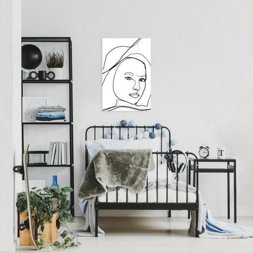 Artystyczny obraz z kobietą dla nastolatki