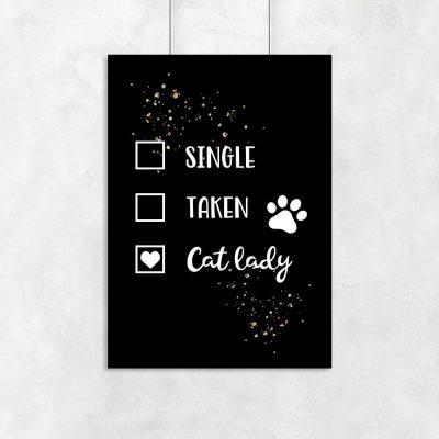 Plakat - Cat lady do salonu