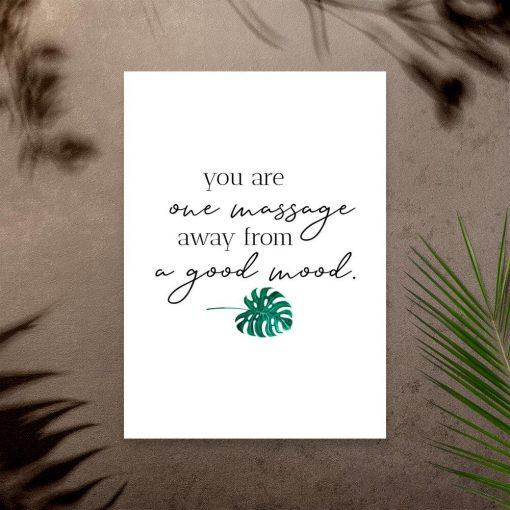 Plakat z typografią - One massage