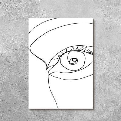 Obraz z okiem do pokoju
