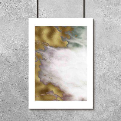 Plakat z abstrakcją z marmuru do biura
