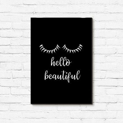 Obraz - Hello beautiful do salonu kosmetycznego