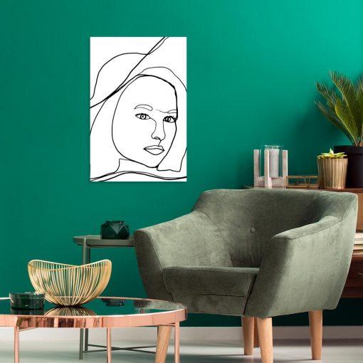 Artystyczny obraz z kobietą do salonu