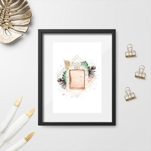 Plakat z perfumami do salonu