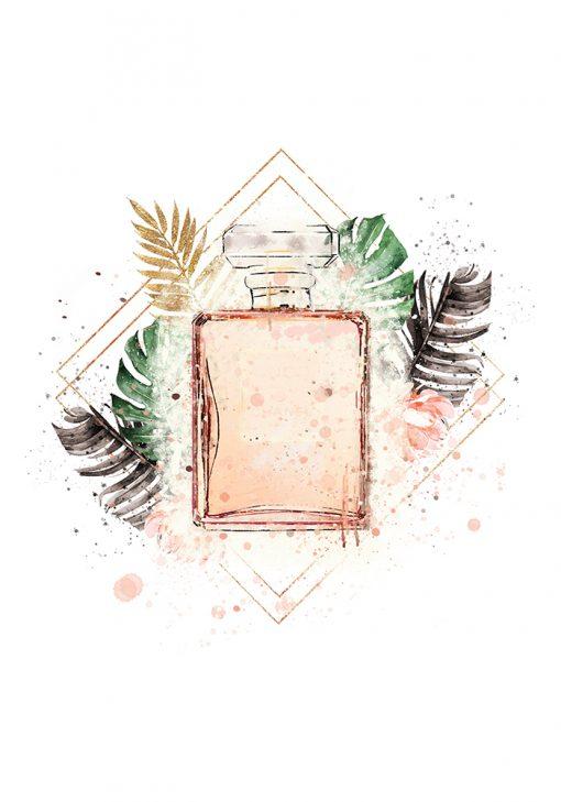 Plakat z perfumami