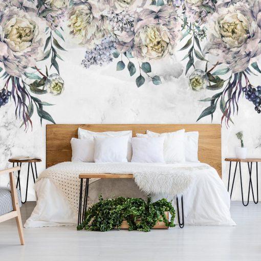 Tapeta do sypialni - Kwiecisty wzór
