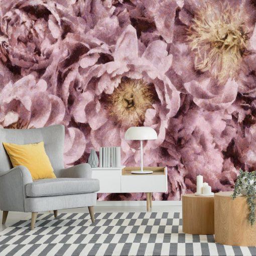 Fototapeta z różowymi piwoniami do pokoju
