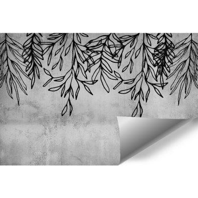 Fototapeta z gałązkami na betonie do biura