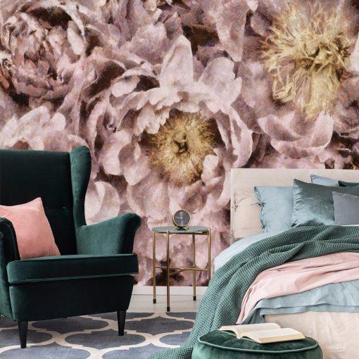 Foto-tapeta z motywem kwiatów do sypialni