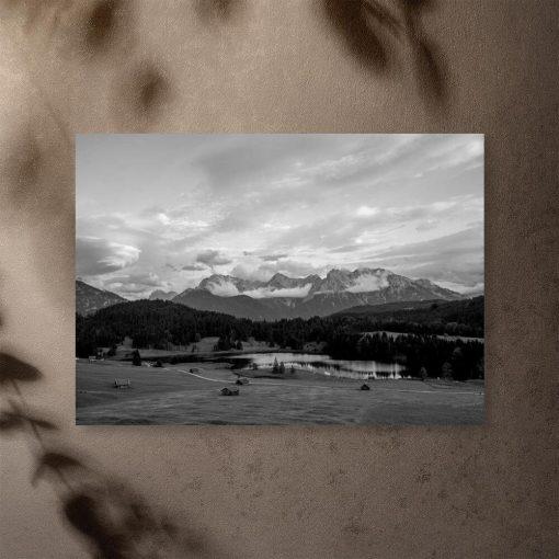 Plakat z jeziorem Geroldsee do sypialni