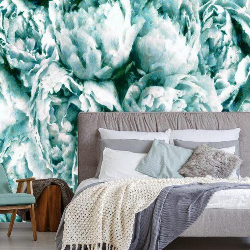 Foto-tapeta z kwiatami do sypialni