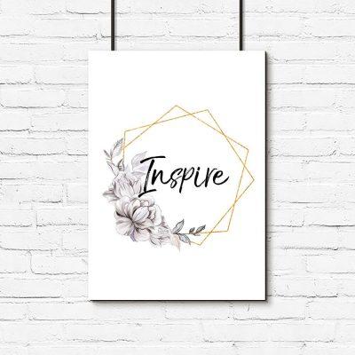 Plakat do pokoju - Inspire