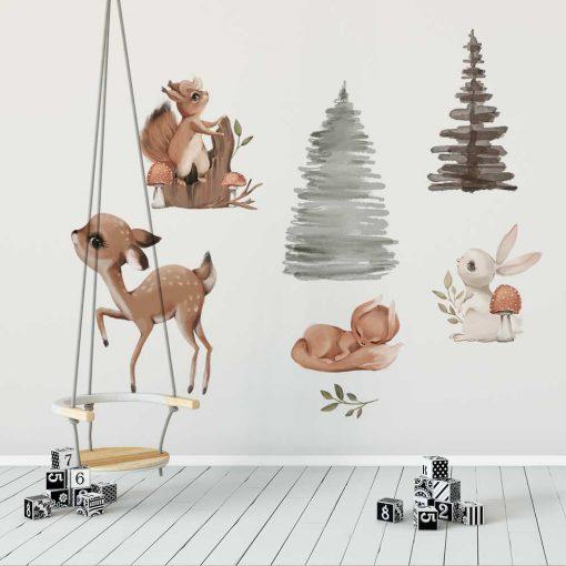 Naklejki dla dziewczynki - Motyw leśny