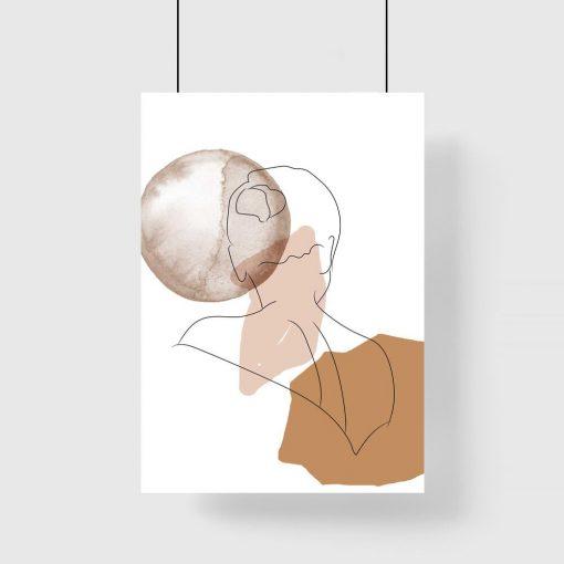 Plakat ze szkicem kobiecej postaci