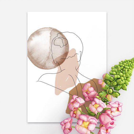 Plakat abstrakcja i kobieta