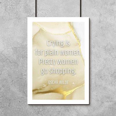 złoty marmurek na plakacie do sypialni