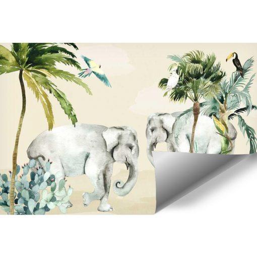 zielone palmy na fototapecie do pokoju dziecka