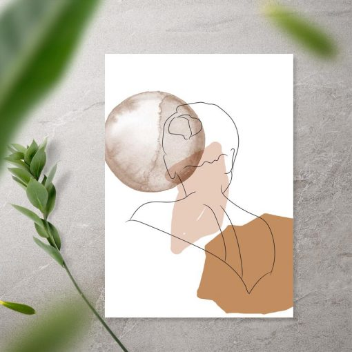 Plakat kształty kobiety