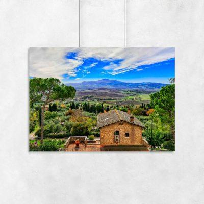 Plakat z miejscowością Pienza do salonu