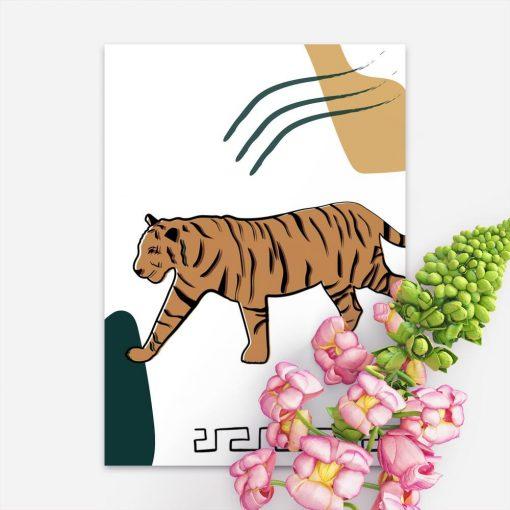 Plakat z podobizną tygrysa
