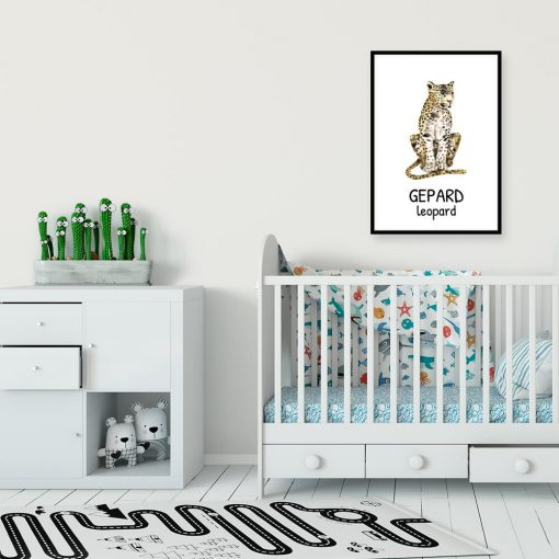 dziki kot - plakat do pokoju uczennicy