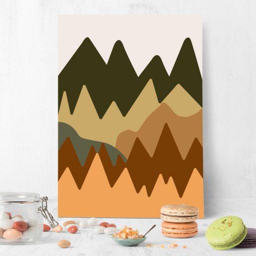 Abstrakcyjne góry - Plakat do Kuchni