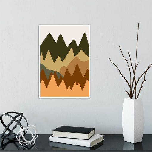 Abstrakcyjne góry - Plakat do salonu