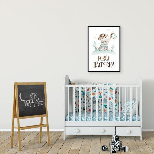 Dziki zachód - Imienny plakat dla dzieci na drzwi