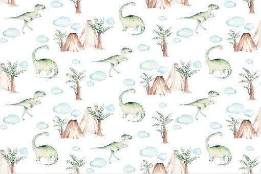 Zielony brontozaur - Fototapeta dla chłopców