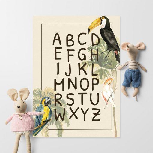 edukacyjna dekoracja - plakat z tukanem