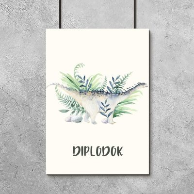 Dydaktyczny plakat dla chłopca - Dinozaur