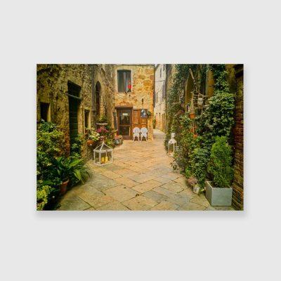 Obraz z toskańskim miasteczkiem