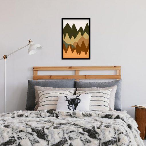 Abstrakcyjne góry - Plakat do jadalni