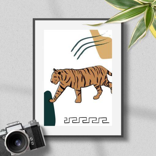 Tygrys na plakacie do upiększenia salonu