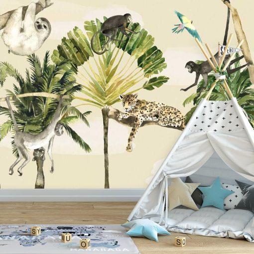 leniwiec na drzewie - fototapeta dla dzieci