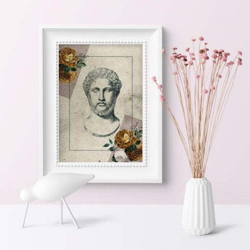 Plakat alabastrowe męskie popiersie