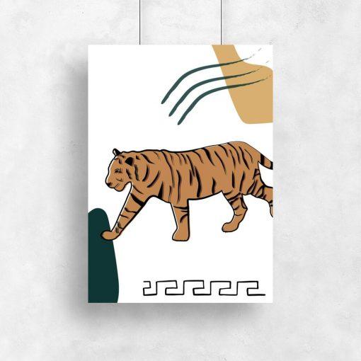 Plakat z tygrysem syberyjskim