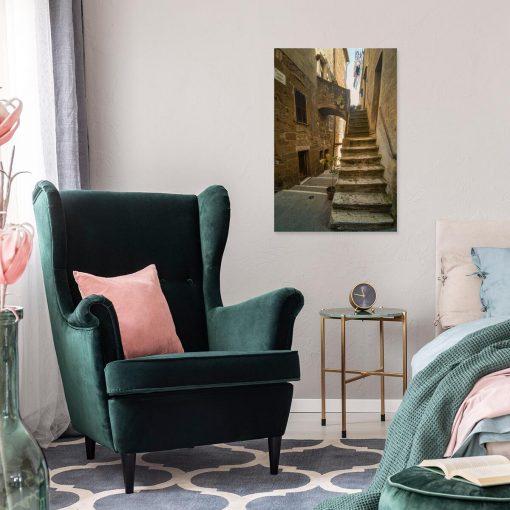 Obraz włoskie uliczki i schody