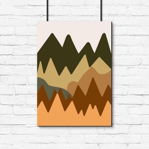 Abstrakcyjne góry- Plakat do sypialni