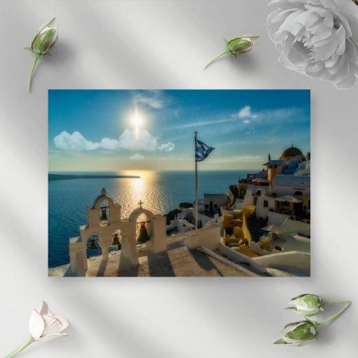 Obraz z lazurowym Morzem Egejskim do salonu