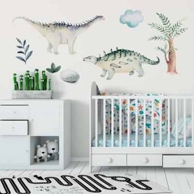 Komplet naklejek dla dzieci - Świat dinozaurów