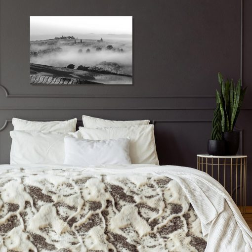 Czarno-biały obraz z górską scenerią do nowoczesnych wnętrz