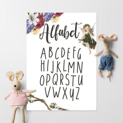 Plakat z literkami do przedszkola