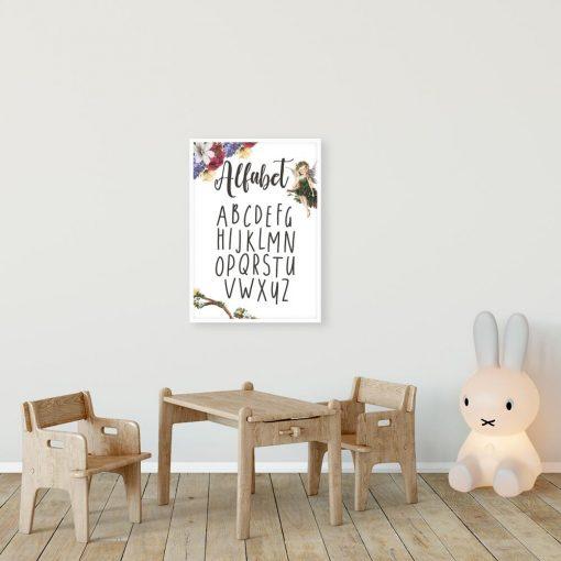 Plakat z alfabetem do oprawienia