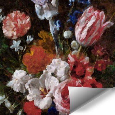 Fototapeta w stylu prowansalskim z tulipanami do jadalni
